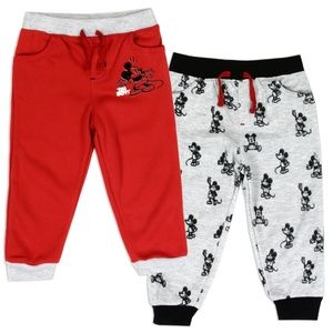 🎁🌴MICKEY MOUSE Boys Infant 2-Pack Fleece Joggers
